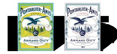 Etiquettes Pontarlier-Anis